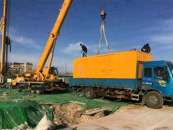 扬州万科工程建设租赁一台大型静音发电
